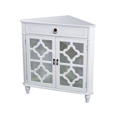 Heather Ann Heirloom Style One (1) Drawer Corner Accent Cabinet | Overstock.com Shopping - The Best Deals on Coffee, Sofa & End Tables