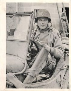WWII 101st Airborne Division Gen. Maxwell Taylor in Normandy