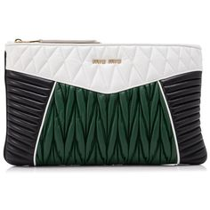 Miu Miu Nappa Colour Miu Rider Clutch (3,790 PEN) ❤ liked on Polyvore featuring bags, handbags, clutches, black, nappa leather handbags, miu miu, miu miu handbags and miu miu purse