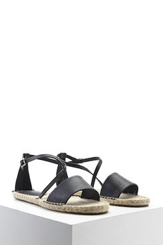 dfab8d18b42 GC Shoes Amazon Fabric Gladiator Sandal. A pair of open-toe espadrille  sandals featuring a pebbled faux leather top strap and