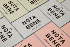 Good design makes me happy: Project Love: Nota Bene