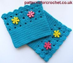 Shell Boot Cuffs ~ Patterns For Crochet Crochet Boots, Crochet Gloves, Crochet Slippers, Knitted Hats, Crochet Crafts, Free Crochet, Knit Crochet, Crochet Winter, Crochet Baby