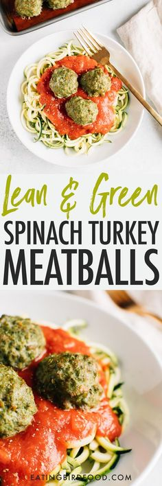 These simple clean eating Popeye turkey meatballs are moist and flavorful, loaded with veggies and require no binders! Great for meal prep because you can add them to pasta, sandwiches, salads and more throughout the week! Gluten-free, dairy-free, paleo.