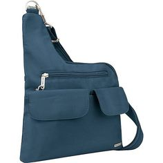 Travelon Anti-Theft Cross-Body Bag Front zip pocket | eNew Style