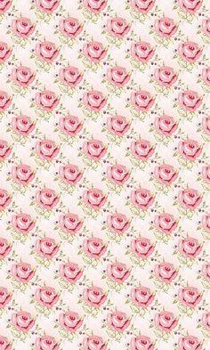 pink roses in diamond pattern.