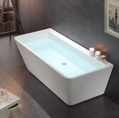 Fesselnd Freistehende Badewanne Acryl VENEZIA Weiß   170 X 80 Cm Badewelt Whirlpool  / Badewannen Acryl Weiß
