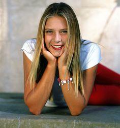 A very young Maria Sharapova