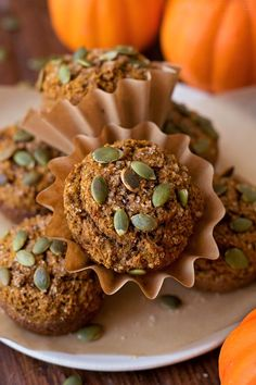 These are the best healthy pumpkin bran muffins out there! Not only are they low in fat, but they're low in sugar too. Plus they're packed full of protein along with essential vitamins & nutrients!
