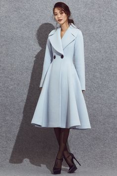 Autumn and winter thick long-sleeved skater dress : Autumn and winter thick long-sleeved skater dress – TWONEX Look Fashion, Hijab Fashion, Autumn Fashion, Fashion Dresses, Womens Fashion, Fashion Design, Fashion Trends, Maxi Dresses, Fashion Coat