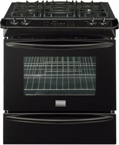 Frigidaire FGGS3045KB Gallery 30 Slide-In Gas Range - Black -- You can find more details by visiting the image link.