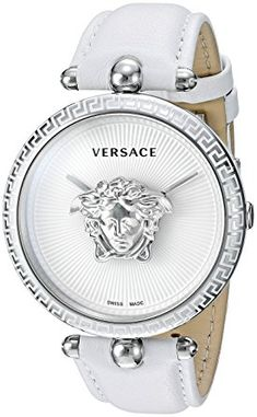 Versace Women's  Casual Watch      Swiss made     Palazzo empire     Swiss-quartz Movement     Case Diameter: 39mm     Water resistant to 50m (165ft: in general, suitable for short periods of recreational swimming, but not diving or snorkeling You can look here and buy.