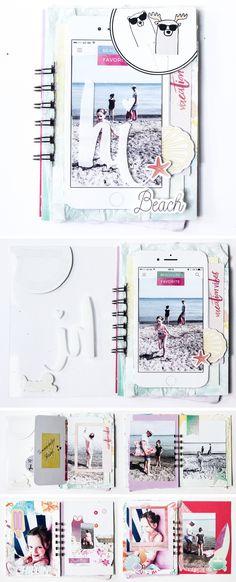 Strand-Minialbum mit dem Julikit | von Stephanie Schütze für www.danipeuss.de