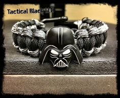 Darth Vader Paracord bracelet by TacticalBlackRDS on Etsy, $25.00