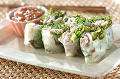 Spring Rolls, Rolls Recipe, Fresh Rolls, Green Beans, Sushi, Food And Drink, Vegetables, Cooking, Ethnic Recipes