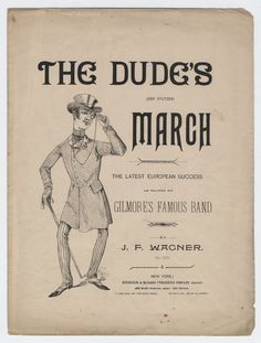 """The dude abides... and marches! """"The Dude's March (Der Stutzer)"""" from the late 1800s. #sheetmusic #biglebowski"""
