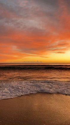 Awesome sunshine in Australian Beach