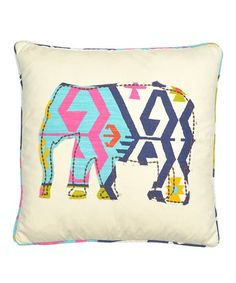 $24.99 marked down from $39! Sand Geometric Elephant Throw Pillow #pillow #zulily! #zulilyfinds