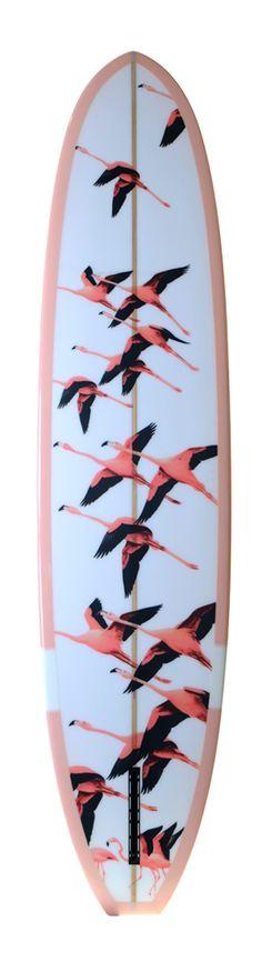 Flamingo surfboard