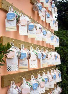 tea cup wedding escort cards ideas - Photography: Irish Grzanich Photography - irishgrzanich.com