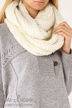 lovee infinity scarves  and im making one like this right now