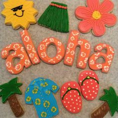 Melissa Souza: 1st attempt at Hawaiian themed cookies. They're fantastic!!!