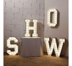 Vegaz metallic letter light by Seletti