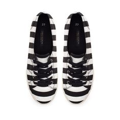 Image 2 of STRIPED SNEAKERS from Zara