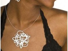 Melissa Borrell Pop Out Jewelry: Laser Cut Jewelry Necklace and Earrings
