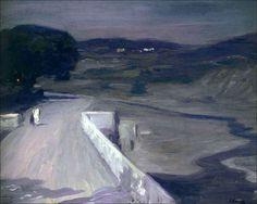 John Lavery - Clair de lune sur le pont , Moonlight on the Bridge (1912)  Irish, 1856–1941  Oil on canvas