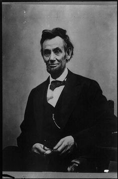 """This iconic photograph of President Abraham Lincoln was taken on February 5, 1865, in the final year of the Civil War and only two months before his assassination. The original intent of this photo by Alexander Gardner was to serve as basis for a painted portrait, but the photo resulted more impressive than the portrait. Poet Walt Whitman described the president's expressions as """"a deep latent sadness,"""" with the toll of war evident."""