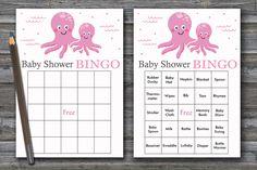 60 Nautical baby shower bingo cards, sea baby shower bingo, octopus baby shower bingo, starfish baby shower bingo, 60 bingo cards, BG-192 Baby Bingo, Baby Shower Bingo, Baby Shower Printables, Blank Bingo Cards, Star Baby Showers, Nautical Baby, Shower Gifts, Starfish, Octopus