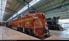 RailPictures.Net Photo: PRR 5901 Pennsylvania Railroad EMD E7(A) at Strasburg, Pennsylvania by Mitch Goldman