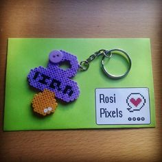 Hama beads pacifier chupete by Rosi Pixels