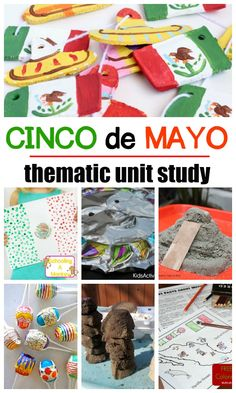 Complete a Mexican unit study with these Cinco de Mayo activities! Hands-on activities for Cinco de Mayo and more to complete a Mexico theme! Multicultural Activities, Social Studies Activities, Steam Activities, Science Activities For Kids, Preschool Lessons, Spring Activities, Hands On Activities, Lessons For Kids, Kindergarten Activities