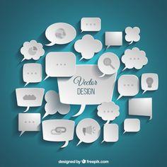 Variété de la parole d'affaires bulles Vecteur gratuit