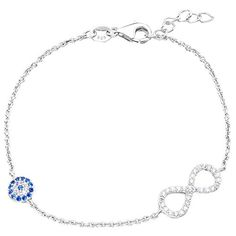 Ever Faith 925 Sterling Silver CZ Evil Eye Figure 8 Infinity Chain Bracelet N06636-1 Ever Faith http://www.amazon.co.uk/dp/B013HY4Y20/ref=cm_sw_r_pi_dp_iggZvb0S5VJ7S