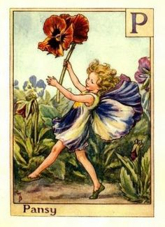 Pansy Flower Fairy » Flower Fairy Prints- Vintage Fairy Prints by Cicely Mary Barker