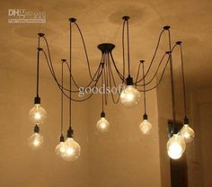 Wholesale , Edison Chandelier, Edison light bulb chandelier,Modern chandeliers, Free shipping, $281.52-299.0/Piece | DHgate