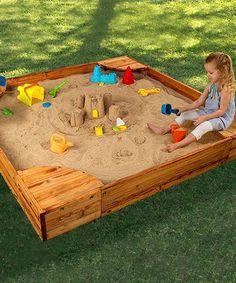 Another great find on #zulily! Backyard Sandbox by KidKraft #zulilyfinds