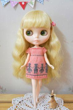 Blythe Doll Pink Dress Clothing Dolls Pattern | eBay