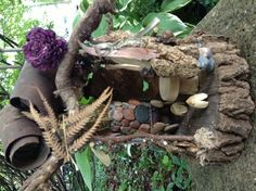 Fairy house hearth.