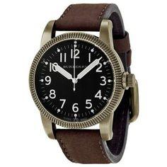Relógio Burberry Military Black Dial Brown Leather Strap Mens Watch BU7807 #Relogio #Burberry