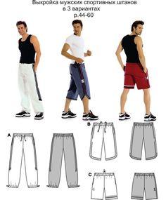 Como hacer bermudas y pantalones depotivos para caballeros                                                                                                                                                                                 Más