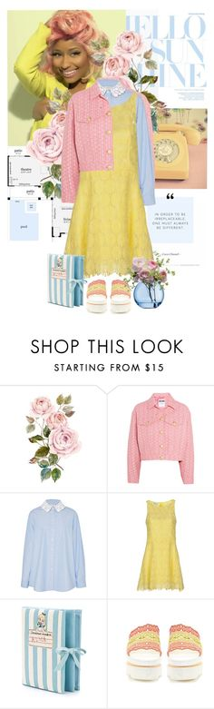 """#101."" by yuuurei ❤ liked on Polyvore featuring Nicki Minaj, Moschino, TradeMark, Dondup, Olympia Le-Tan, STELLA McCARTNEY, LSA International and lacedress"