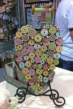 vintage spool heart - cute!