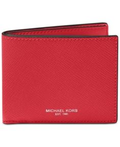 4e95d8d0aedb Michael Kors Mens Textured Bifold Wallet Red New #fashion #clothing #shoes  #accessories