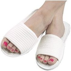 For Pro Cotton Waffle Open Toe Slipper 1-pr. by For Pro. $3.82. This perfectly textured slipper is one of the most comfortable slippers you'll ever wear. Features EVA, non-slip sole. Machine washable.