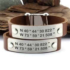 Personalized Coordinate Bracelet Latitude Longitude Bracelet