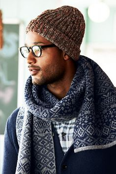 Rib Knit Wool Hat from Lands' End Canvas