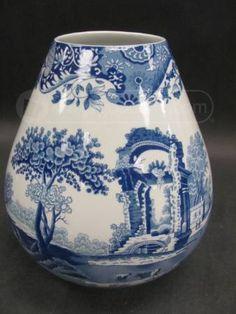 Blue White Spode Vase Italian Spode Design